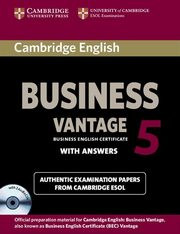 ksiazka tytuł: Cambridge English Business 5 Vantage with answers + 2CD autor: